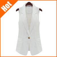 2013 spring and summer fashion medium-long slim suit vest sleeveless women vest tooling small cape vest