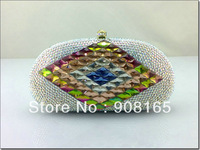 2013 women small bag,new white clutch crystal,women fashion purse women.free shipping