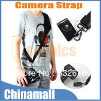Black Grip Quick Rapid Sling Shoulder Neck Adjustable Strap Belt for Digital SLR DSLR Camera Free shipping + Drop shipment