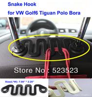Free Ship  for VW Volkswagen Golf6 Tiguan Polo Bora Car SUV Seat Back Snake Hook Holder- Black