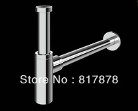 P TRAP BATHROOM SINK VANITY BASIN PIPE WASTE DRAIN PIPE WASTE - SOLID BRASS CHROME MG05