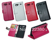 Free shipping!!Black Book Leather flip Case Cover Pouch for Samsung Galaxy S Advance i9070
