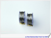 High quality 500*2 Anti-static Conductive Stainless steel fiber Thread Wholesale / Retail  50pcs