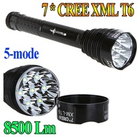 High Power Trustfire TR-J18 Flashlight 5 Mode 8500 Lumens 7 X CREE XM-L T6 LED power by 18650 or 26650 Battery Waterproof Torch