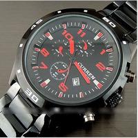Hot! Curren Calendar Wristwatches Men stainless steel watch Luxury design Sport Men's wrist watch Fashion tungsten steel watches