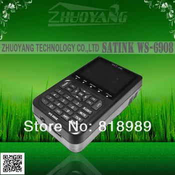 "free shipping SATlink WS-6908 3.5"" DVB-S FTA Professional Digital Satellite Signal Finder Meter ws6908"