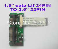 100% Brand New 24pin 1.8 2.5 LIF SSD HDD to 22pin SATA converter adapter card