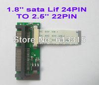 100% Brand New 24pin 1.8 2.5 LIF SSD HDD to 22pin SATA converter adapter card