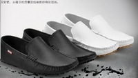 Free shipping 2014 male genuine  leather male lounged fashion casual leather shoes sailing shoes driver  men loafers