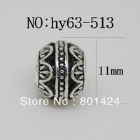 European big hole hollow alloy shamballa  beads free shipping