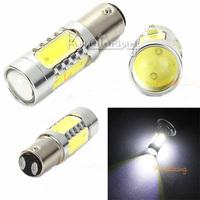 2X Led Turn Lamp 7.5W Stop Backup Parking Bulb 5 COB Led Rear Brake Light 12V Car 1157 Smd Tail Signal Reverse Projector White