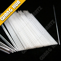 transparent quartz tube/clear quartz tube OD10/11/12*1T*100mm