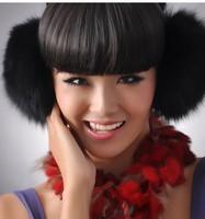 Chopop Genuine Fox Fur Earcap warm fashion accessory lovely flocky earmuffs/Wholesale/Retail Free Shipping/female