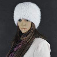 Chopop Fur 2014 Knitted Mink Handmade Fur Hat Mink Fur Hat Fur Head Warmer Headgear Skull Hats Women