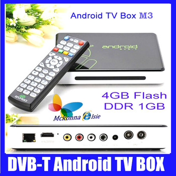 Google Android 4.0 Smart TV Box IPTV WiFi HD 1080P HDMI Player ARM Cortex A9 DDR3 1GB /4GB ET02 M3 Support DVB T Free Shipping