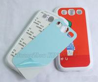 DIY Blank Sublimation case for Samsung Galaxy S3 Siii i9300 Wholesale Bulk 100pcs/Lot DHL Drop Free Shipping