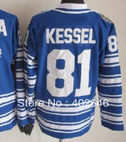 2014 winter classic jerseys! Toronto #81 Phil Kessel blue hockey jerseys