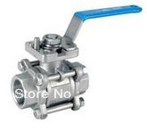 "DN15 1/2"" 3pc ball valve with ISO pad 5211,ss304(China (Mainland))"