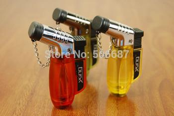 Dual Flame Cigarette Jet Torch Flame Lighters Gas Lighter - Random color