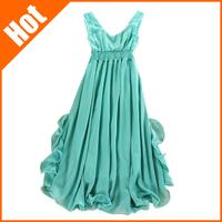 women summer high waist ruffle spaghetti strap chiffon maxi long dress mopping the floor dress full bohemia beach dress