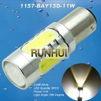 2x 1157/BAY15D High power 11W Super Red/White Car Brake/Stop/Reverse Gangster Led Light