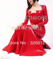 Strapless latex dress & long skirt 100% handmade nature latex