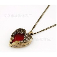 lowest price in aliexpress new fashion peach heart necklace wholesale angel's wing lady necklace NC016