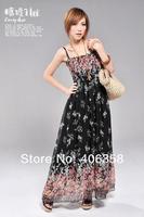 2013 Joying Fashion long beach dress Bohemian dress chiffon floral dresses #8157