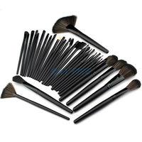 Big Promotion! 32 Pcs 32Pcs Makeup Brushes Professional Cosmetic Make Up Set  + Black Leather Case Free Shipping