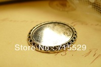 Free shipping 24*30mm, Inner size 18*25mm antique Pendant base Setting/silver pendant ,alloy base cameo setting by 20pcs/lot