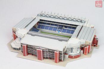 LITU 3D PUZZLE_Build Your Own Stadium_Ibrox Stadium DIY learning Educational toy landscape paper craft