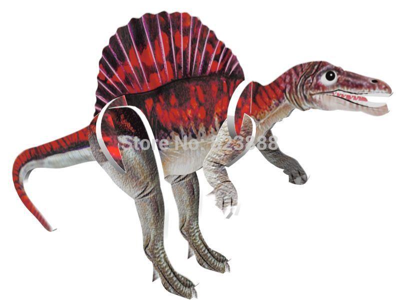 LITU 3D PUZZLE/JIGSAW PUZZLE/TOYS/EDUCATIONAL_Jurassic Park / dinosaur_16 designs/lot style No.7033(China (Mainland))