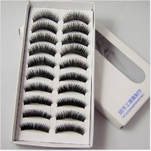 free shipping New 10 Pair Thick Long False Eyelashes Eyelash Eye Lashes Voluminous Makeup  drop ship(China (Mainland))