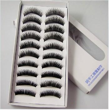 free shipping New 10 Pair Thick Long False Eyelashes Eyelash Eye Lashes Voluminous Makeup  drop ship