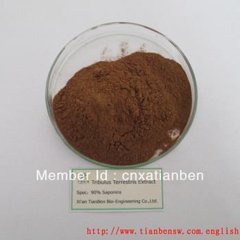 tribulus terrestris extract powder with 90% saponins UV