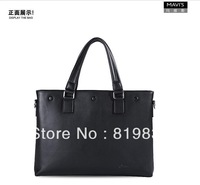 HOT SALE!100% original Marvelous M921-1 men business leisure messenger bag knit split leather zipper soft handle freeshipping