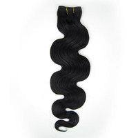 "Virgin Brazilian 3pcs Mixed Lot 12''14""16""18""20""22""24""26'' Remy Human Hair Extensions Weft 100g Wavy #1 Jet Black"
