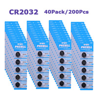 Free shipping 200pcs 3V CR2032 DL2032 CR DL 2032 BR2032 coin Lithium battery