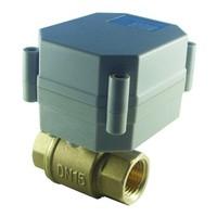 TF15-B2-A DN15 Electric Flow Control Valve DC5V 2 wires CR201 wiring BSP/NPT 1/2'' Ball Valve