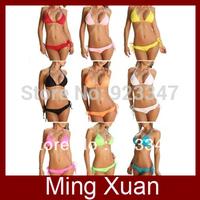Free Shipping 2013 Sexy Lingerie Bra + T-back Sets Halter Bikini Swimwear & Swimsuit 1sets/lot