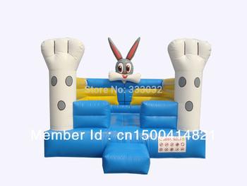lovely MINI Bonny Rabbit bouncer inflatable moonwalk jump inflatable bouncy jumper toy great gift bouncy castle