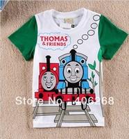 free shipping  2013 new  fashion boy's t-shirt Thomas locomotive cool Children summer tees