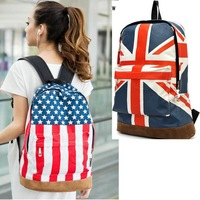 Unisex Canvas Handbag teenager School bag Olympic Games American US UK Flag Star-Spangled Banner Campus Backpack bags Schoolbag