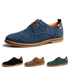 Free shipping 2013 British fashion male casual shoes men's suede genuine leather breathable big code shoes size 39-48(China (Mainland))