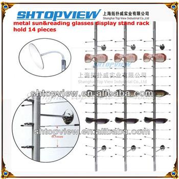 Hog-14b Reading& Sun Glasses Aluminum Alloy Display Rod Stand Rack Without Lock, Eyewear Rod,show Shelf Board