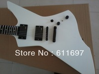 2014 new arrival + free shipping+ factory + ESP white snakebyte explorer guitar with active EMG pickups ebony fretboard on SALE!