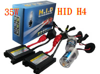 Free shipping wholesale Motor/Motorcycle Bike Hid Lights Kit Bi-Xenon H4 (H4-3) Hi/Low Xenon Bulbs 35W 4300k 5000k 6000K 8000k