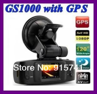 GS1000 GS1000VSA Built-in GPS/G-Sensor 5MP H.264 Full HD 1080p Car DVR w/1.5' LCD/HDMI/Seamless Cycle Recording Ambareall CPU