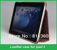 High Quality Brand Leather Case For ipad1, Protective Sheel,Folding Folio Case, Bag,Cove,Wholesales, Free shipping, 1 pcs/lot.