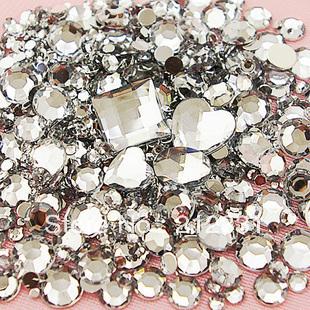 Clear Mixed Size/Shape Flat Back Rhinestone 1100PCS 3D Acrylic Flatback Rhinestones DIY Phone case Nail art design deco supplies